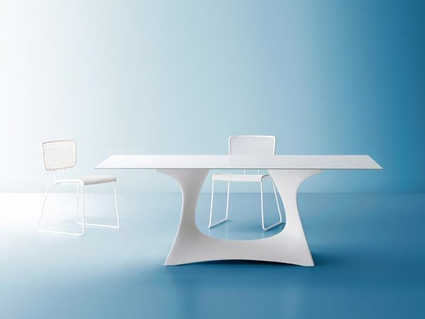 Rectangular steel garden table CORAL REEF | Rectangular garden table by Roberti Rattan