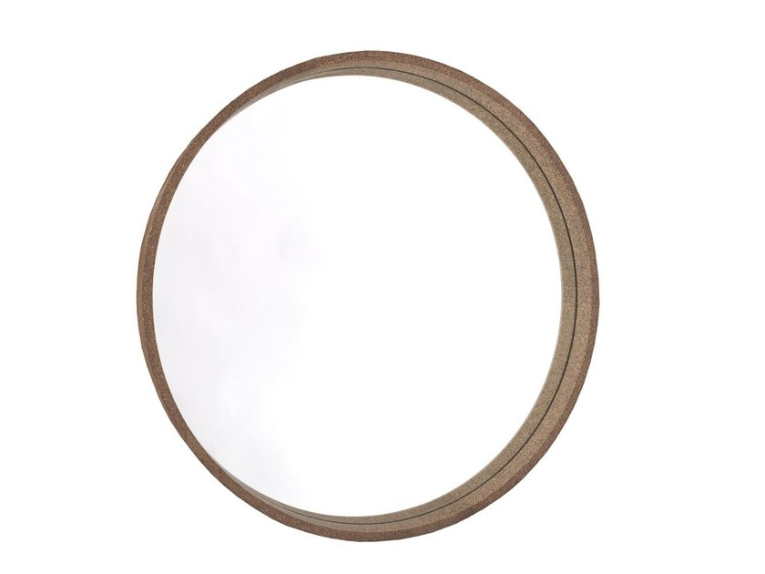 Wall-mounted freestanding round mirror CORK by Dare Studio