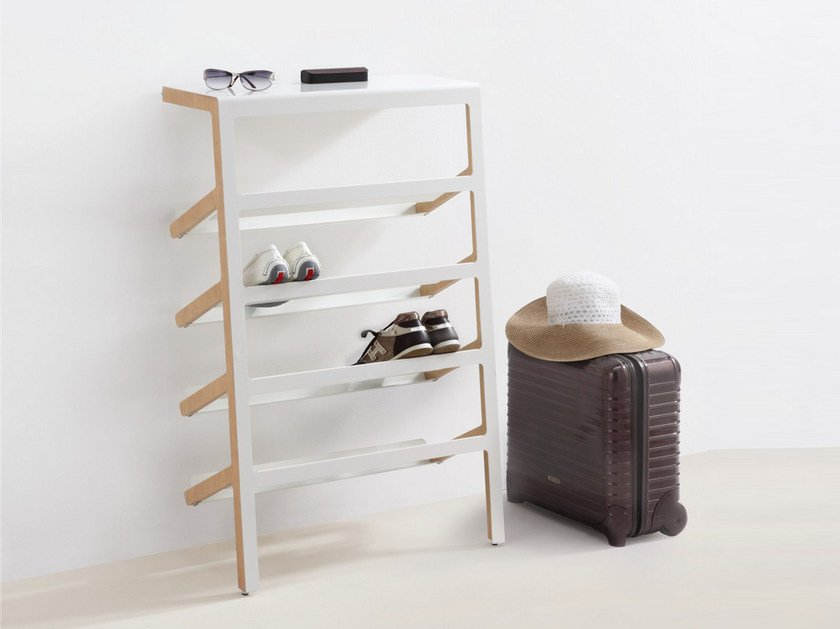 Steel and wood shoe cabinet MILA by MOX
