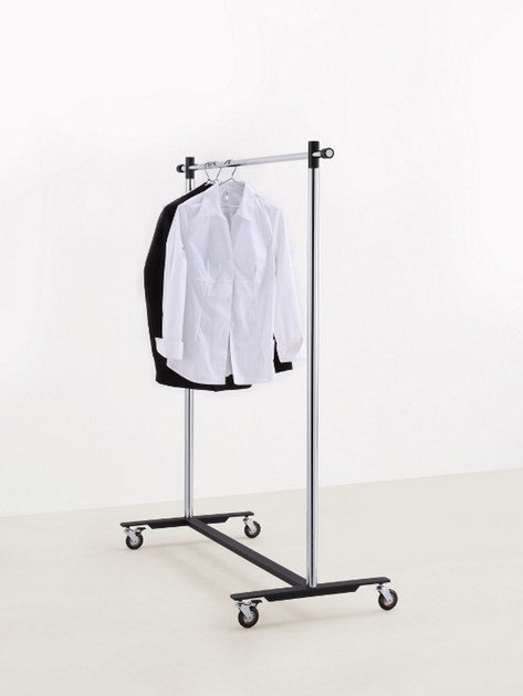 Chrome plated steel coat rack POMCART by MOX