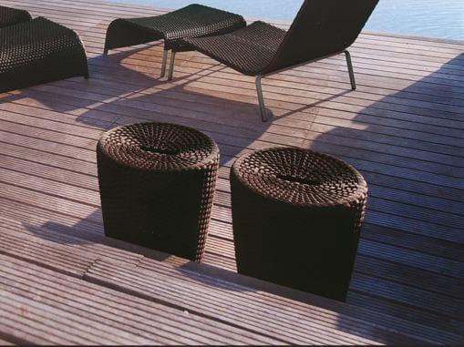Round aluminium garden pouf SAINT TROPEZ | Garden pouf by Roberti Rattan