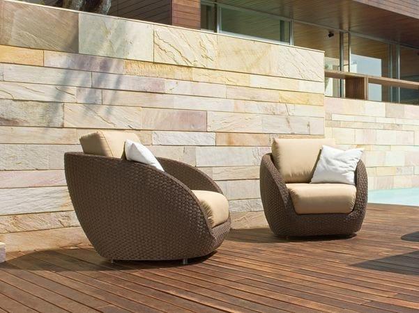 Aluminium garden armchair with armrests SAINT TROPEZ | Garden armchair by Roberti Rattan