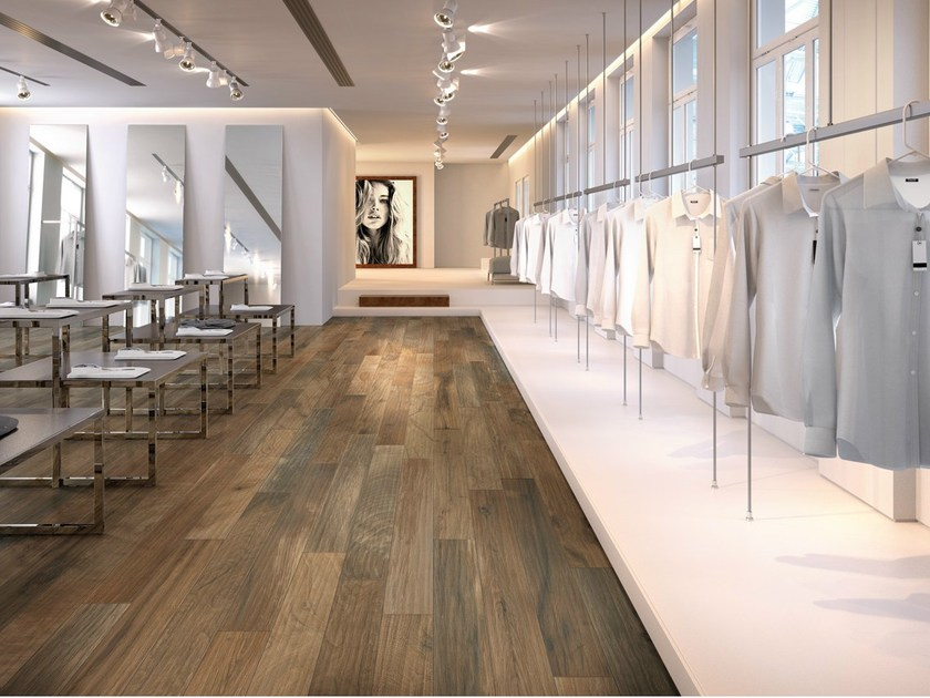 Porcelain stoneware wall/floor tiles with wood effect WOOD_KER BROWN by EDIMAX CERAMICHE