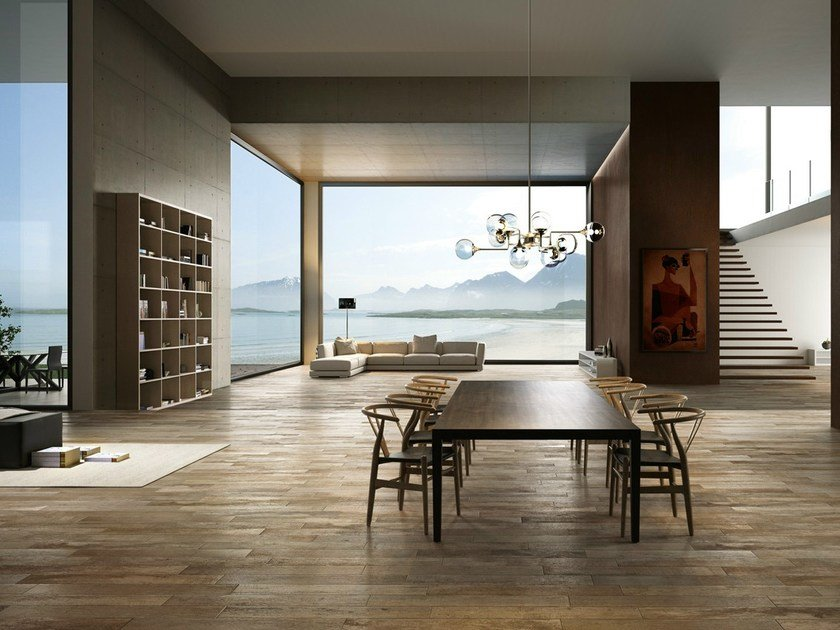 Porcelain stoneware wall/floor tiles with wood effect SELECT KAKI by EDIMAX CERAMICHE