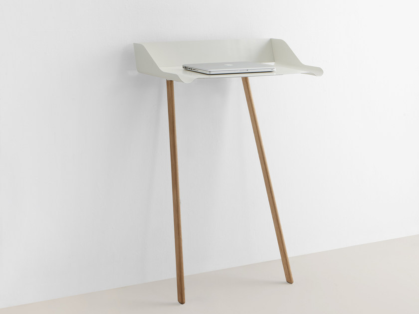 Rectangular steel and wood console table STORCH by MOX