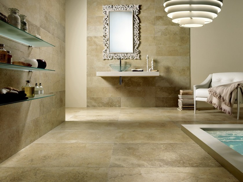 Porcelain stoneware wall/floor tiles with marble effect MATERIA FORTE OXIDA by EDIMAX CERAMICHE