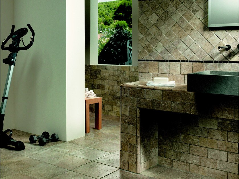 Porcelain stoneware wall/floor tiles with marble effect MATERIA FORTE BASALITICA by EDIMAX CERAMICHE