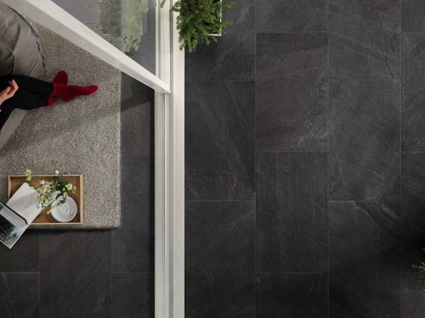 Porcelain stoneware wall/floor tiles with stone effect NORDICA NERA by EDIMAX CERAMICHE