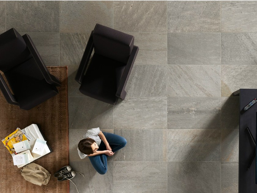 Porcelain stoneware wall/floor tiles with stone effect QUARTZ DESIGN SILVER by EDIMAX CERAMICHE