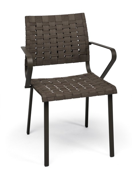 Steel garden chair with armrests HAMPTONS GRAPHICS | Chair with armrests by Roberti