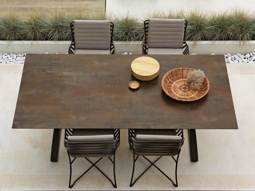 Rectangular HPL garden table HAMPTONS GRAPHICS | HPL table by Roberti Rattan