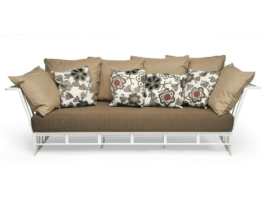 Aluminium garden sofa HAMPTONS GRAPHICS | Sofa by Roberti Rattan