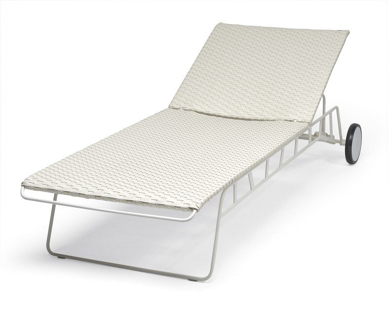 Recliner steel garden daybed with Casters HAMPTONS GRAPHICS | Garden daybed by Roberti Rattan