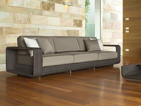 3 seater sectional modular aluminium garden sofa HAMPTONS | 3 seater garden sofa by Roberti Rattan