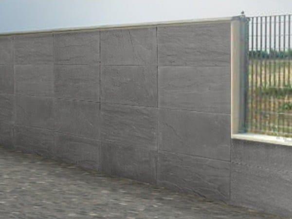 Concrete element for perimeter enclosure T-Rock® Boundary walls by T-Rock