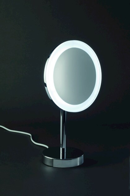 Countertop shaving mirror with integrated lighting BS 63 by DECOR WALTHER