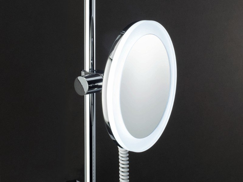 Wall-mounted shaving mirror with integrated lighting BS 62 by DECOR WALTHER