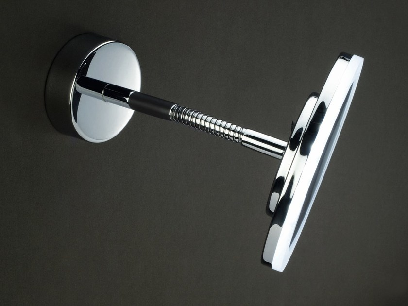 Wall-mounted shaving mirror with integrated lighting BS 61 by DECOR WALTHER