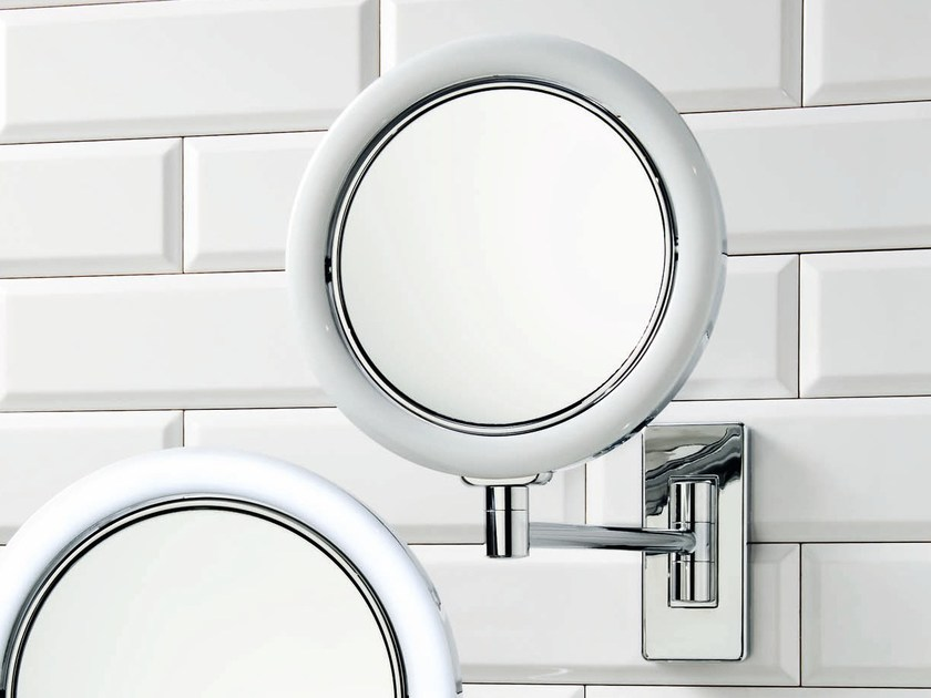 Wall-mounted shaving mirror with integrated lighting BS 14/V by DECOR WALTHER