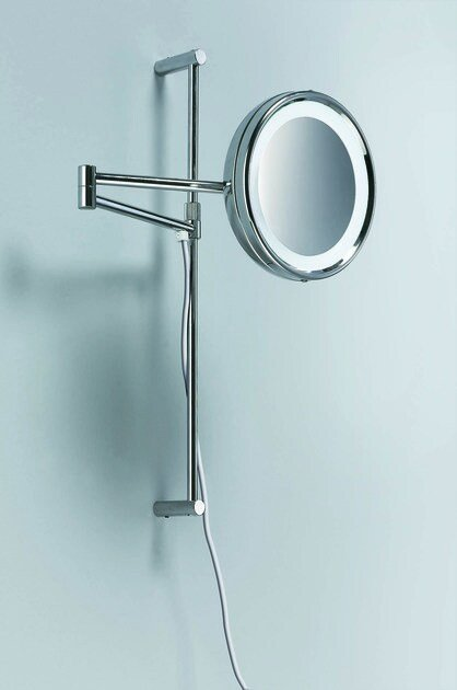 Wall-mounted shaving mirror with integrated lighting SPT 27 by DECOR WALTHER