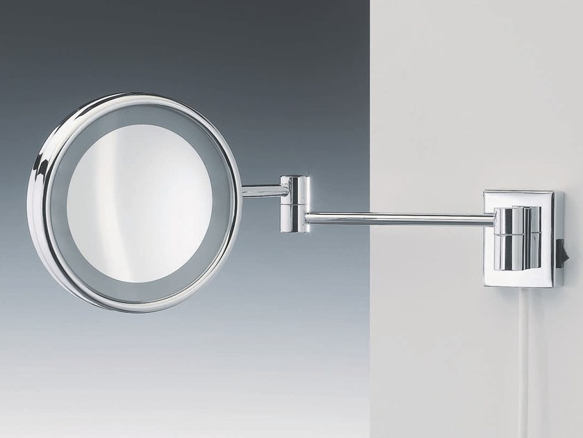 Wall-mounted shaving mirror with integrated lighting SPT 16 by DECOR WALTHER