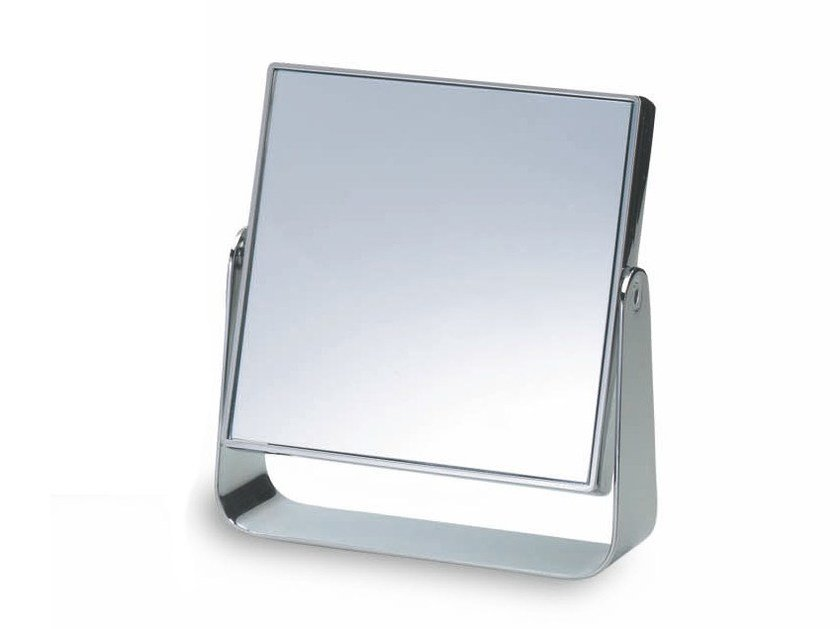Countertop square shaving mirror SPT 55 by DECOR WALTHER