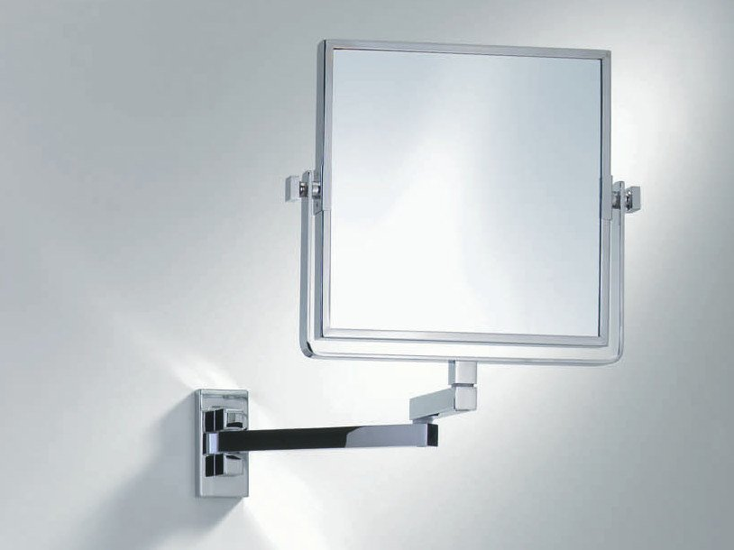 Square wall-mounted shaving mirror SPT 82 by DECOR WALTHER