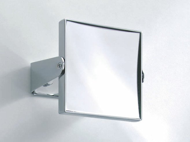 Square wall-mounted shaving mirror SPT 66 by DECOR WALTHER