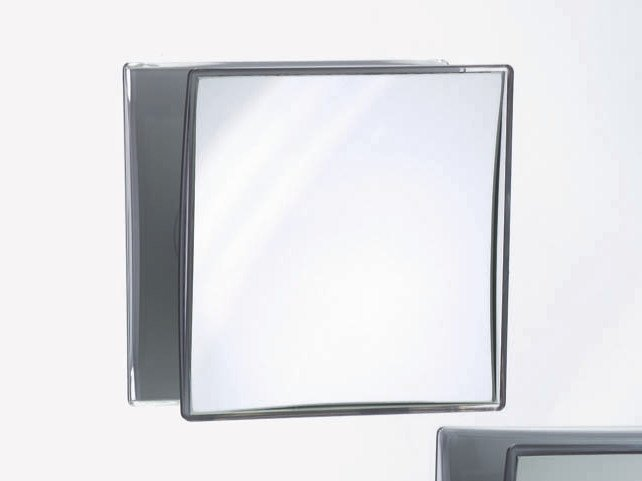 Square wall-mounted shaving mirror SPT 40 by DECOR WALTHER