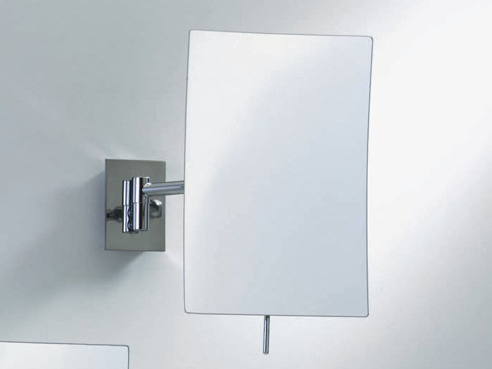 Rectangular wall-mounted shaving mirror SPT 80 by DECOR WALTHER