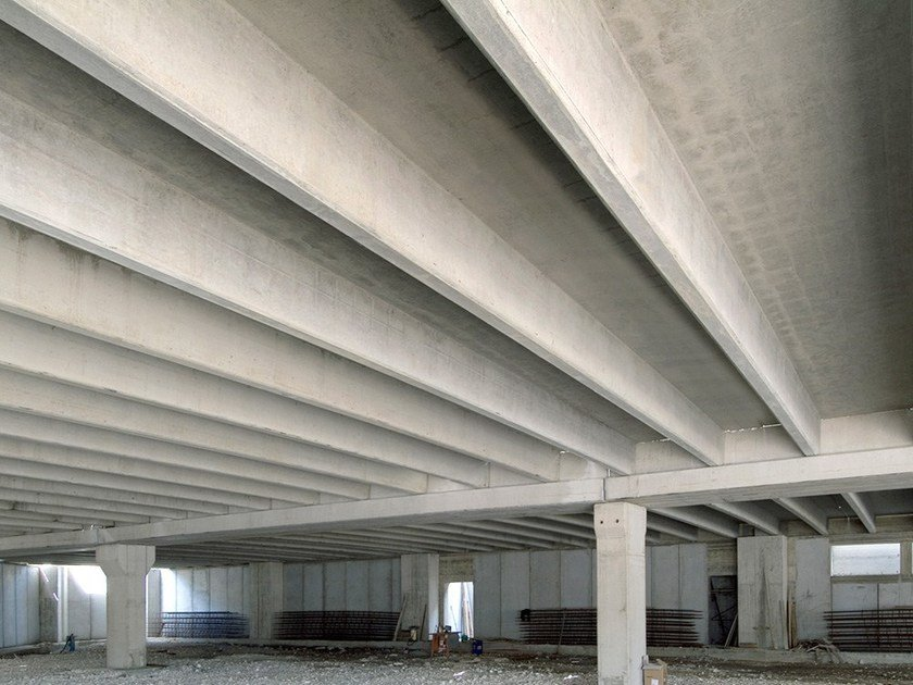 Precast reinforced concrete roof SOLAIO PIGRECO by Premac Prefabbricati
