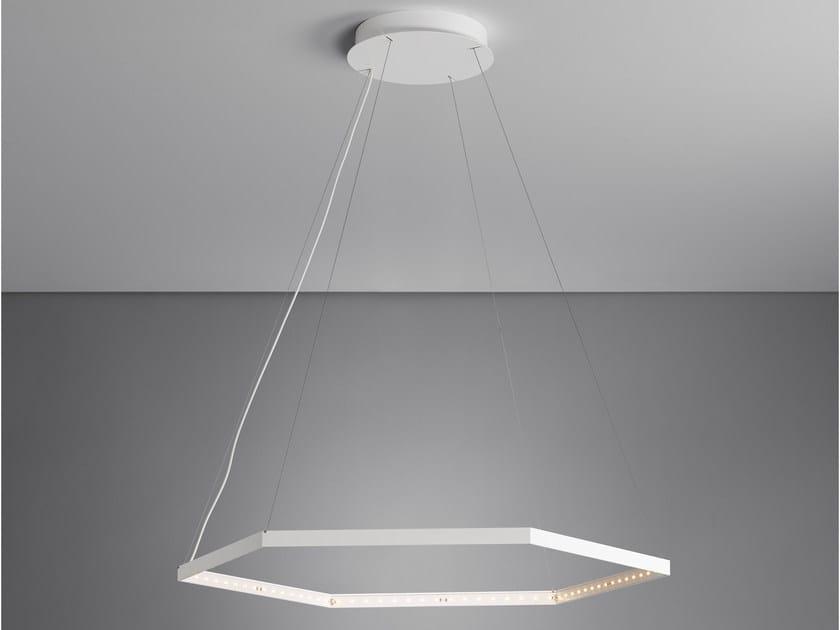 LED direct light indirect light steel pendant lamp HEXA 1 by Le Deun Luminaires