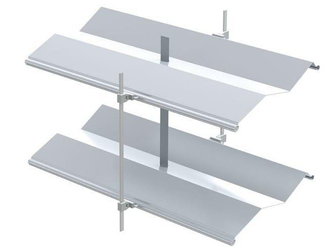 Sliding aluminium solar shading with folding louvers AR 92 Z ECN® | Solar shading by HELLA