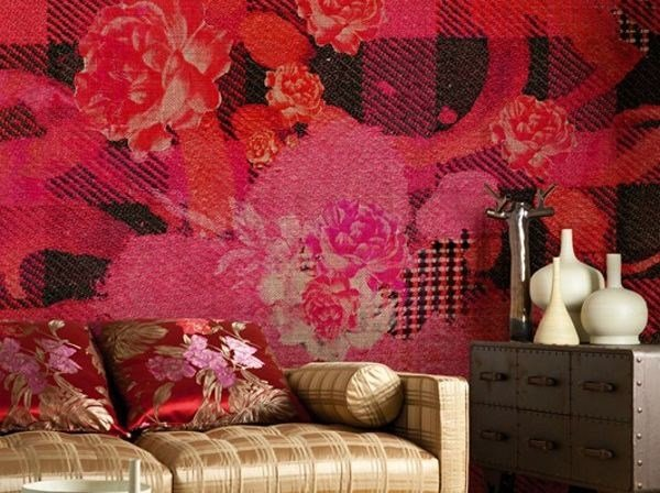 Wallpaper with floral pattern GARDEN FLAVOURS by Wall&decò