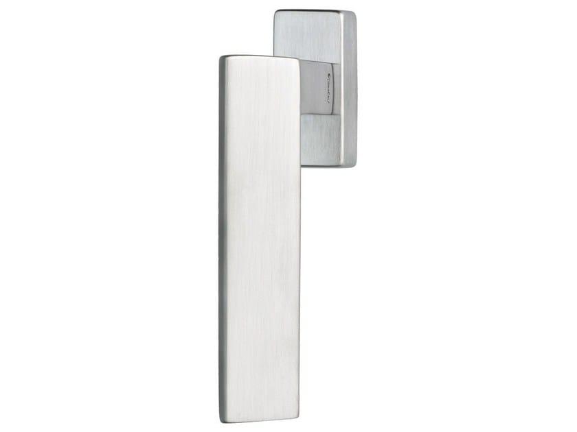 DK chromed brass window handle on rose RIFLESSO | DK window handle by LINEA CALI'