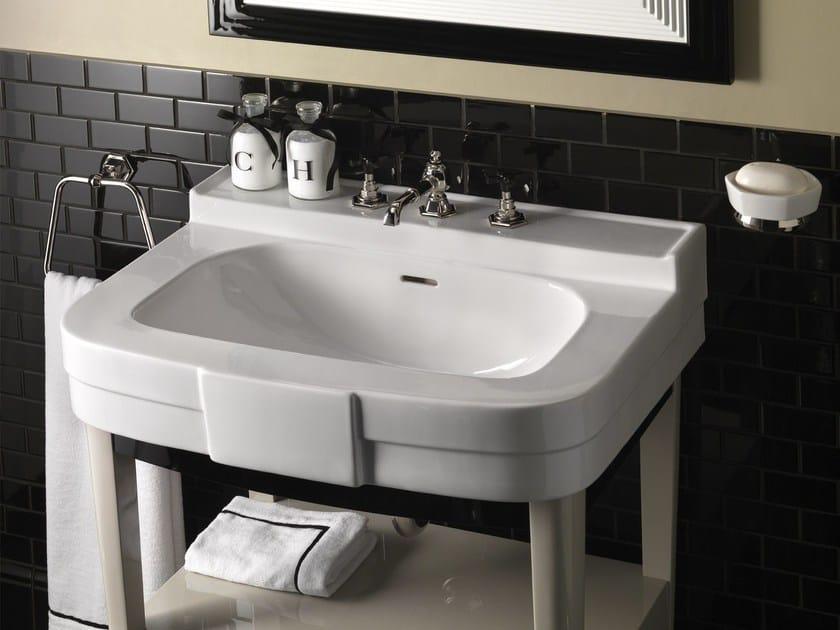 Lacquered console sink with drawers BOGART VANITY by Devon&Devon