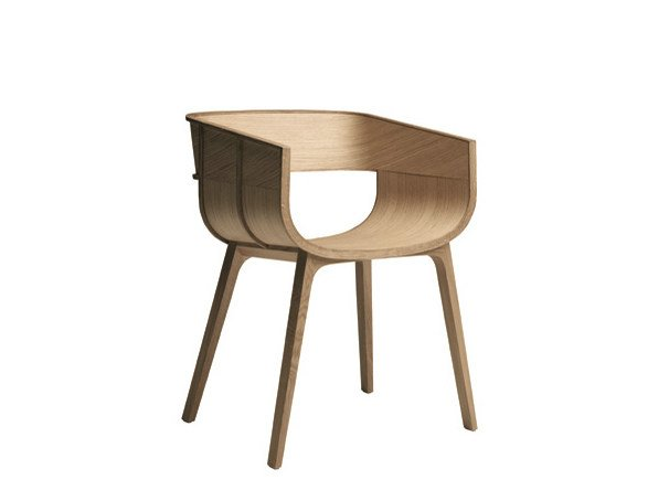 Solid wood chair with armrests MARITIME by Casamania & Horm