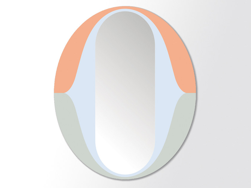 Wall-mounted oval mirror THE O by Moustache