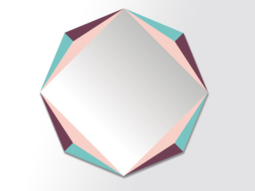 Wall-mounted mirror THE OCTAGON by Moustache