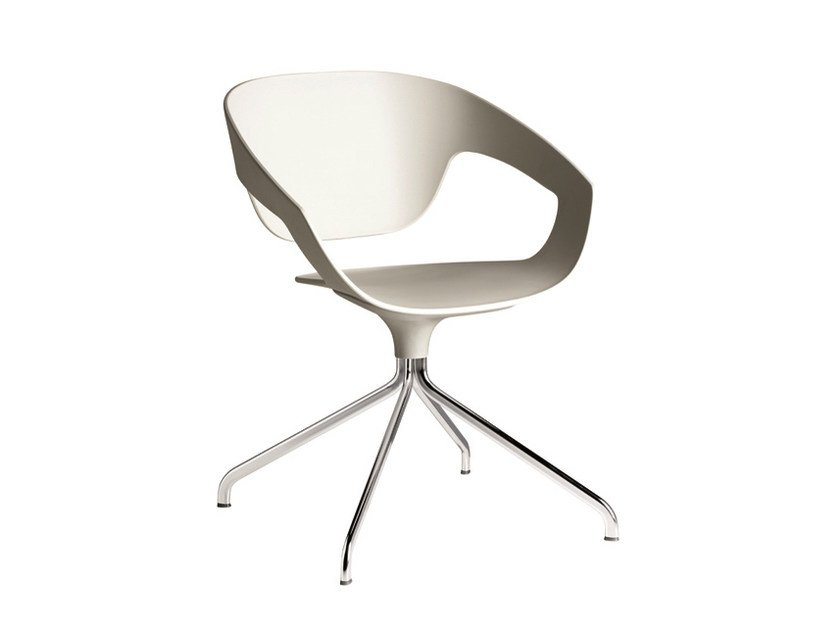 Swivel trestle-based polypropylene chair VAD | Swivel chair by Casamania & Horm