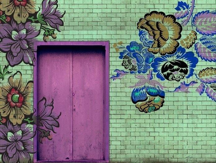 Design wall effect wallpaper ROCKING DOORS by Wall&decò