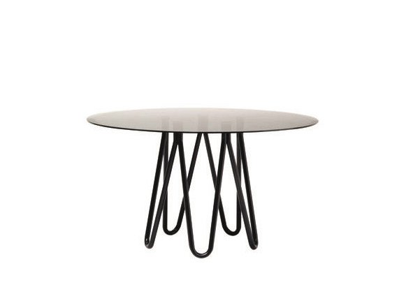 Round Metal Table MEDUSE | Glass Table By CASAMANIA