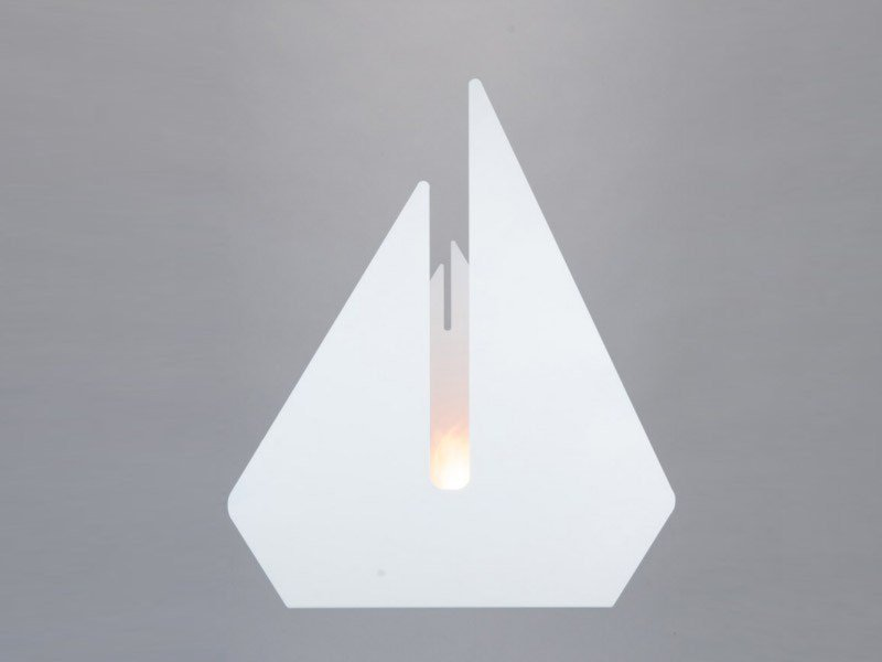 Bioethanol metal fireplace SWAN by Officine del Fuoco