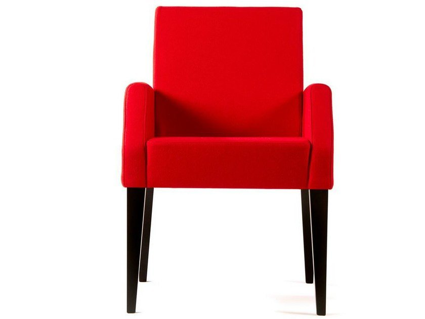 Upholstered armchair with armrests RIVE GAUCHE | Armchair by Adentro