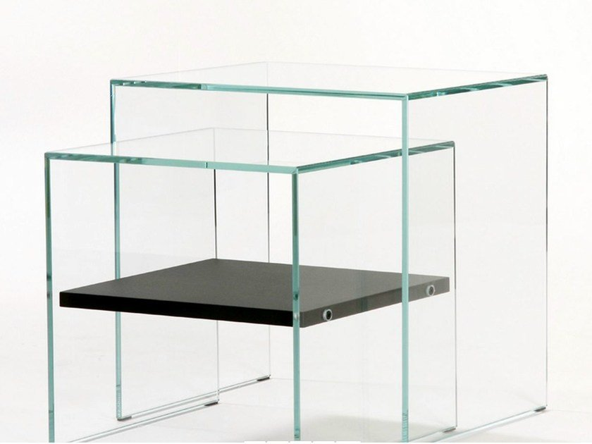 Tempered glass nest of tables SISTERS - ZEN 3 by Adentro