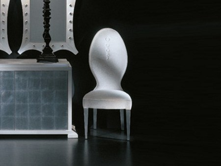Upholstered chair MIXT BOUTONEE by Transition by Casali
