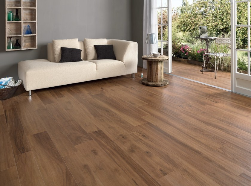 Ecological frost proof wall/floor tiles with wood effect EVOKE BROWN by CERAMICHE KEOPE