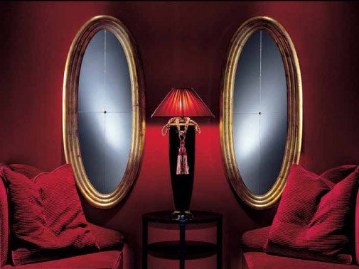 Wall-mounted framed oval mirror OVALE by Transition by Casali