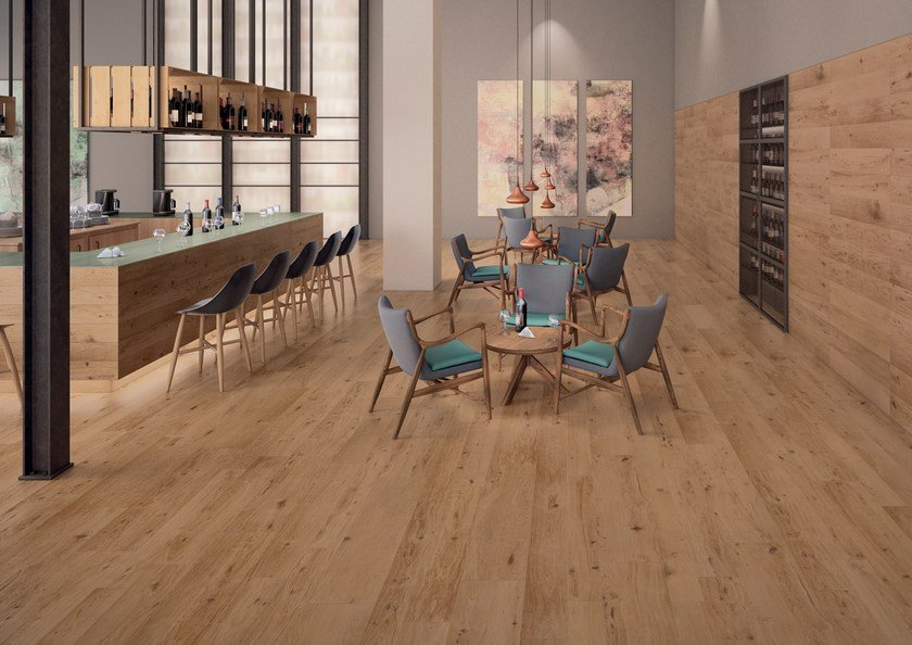 Ecological frost proof wall/floor tiles with wood effect EVOKE SAND by CERAMICHE KEOPE