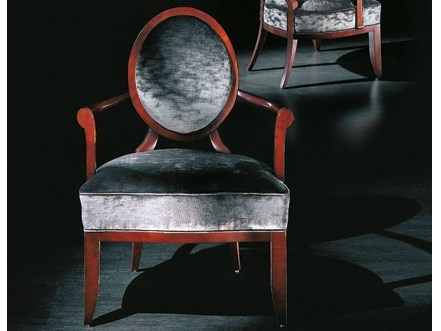 Medallion upholstered armchair with armrests JS BACH by Transition by Casali